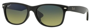 Ray Ban RB2132F Black with Polarized Crystal Blue Green Gradient Lenses