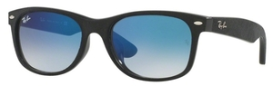 Ray Ban RB2132F Black/Top Black Alcantara with Crystal Blue Gradient Lenses