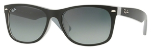 Ray Ban RB2132F Matte Black on Opal Ice with Crystal Grey Gradient Lenses