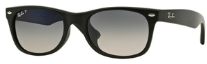 Ray Ban RB2132F Matte Black with Polarized Crystal Blue Grey Gradient Lenses