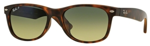 Ray Ban RB2132F Matte Havana with Polarized Crystal Blue/Green Gradient Lenses