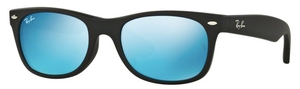 Ray Ban RB2132F Rubber Black with Crystal Grey Mirror Blue Lenses