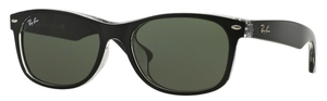 Ray Ban RB2132F Top Black on Transparent with Crystal Green Lenses