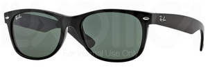 Ray Ban RB2132 New Wayfarer Black with Crystal Green Lenses