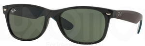 Ray Ban RB2132 New Wayfarer Matte Black w/ Green Lenses
