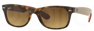 Ray Ban RB2132 New Wayfarer Matte Havana w/ Brown Gradient Dark Brown Lenses