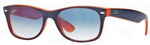 Ray Ban RB2132 New Wayfarer Top Blue-Orange w/ Crystal Gradient Light Blue Lenses