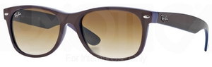 Ray Ban RB2132 New Wayfarer Top Brown on Blue w/ Crystal Brown Gradient Lenses
