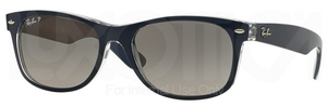 Ray Ban RB2132 New Wayfarer Top Matte Blue on Transparent w/ Grey Gradient POLARIZED Lenses