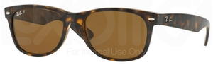 Ray Ban RB2132 New Wayfarer Tortoise w/ Crystal Brown Polarized Lenses