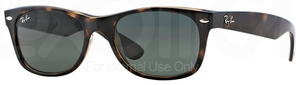 Ray Ban RB2132 New Wayfarer Tortoise w/ Crystal Green Lenses 902