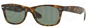 Ray Ban RB2132 New Wayfarer Tortoise w/ Crystal Green Lenses 902L