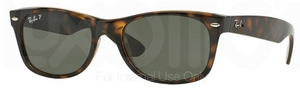 Ray Ban RB2132 New Wayfarer Tortoise w/ Crystal Green POLARIZED Lenses 902/58