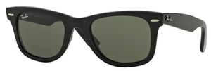 Ray Ban RB2140 Wayfarer Black Effect Aged w/ Green Lenses