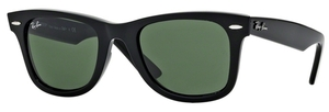 Ray Ban RB2140 Wayfarer Black with Crystal Green Lenses