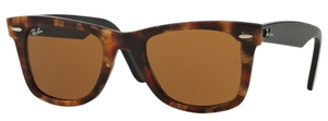 Ray Ban RB2140 Wayfarer Havana Brown Effect Aged w/ Brown Lenses
