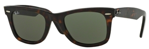 Ray Ban RB2140 Wayfarer Havana Effect Aged w/ Green Lenses