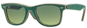 Ray Ban RB2140 Wayfarer Jeans Green with Green Gradient Green Lenses