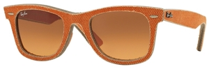 Ray Ban RB2140 Wayfarer Jeans Orange with Orange Gradient Brown Lenses
