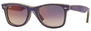 Ray Ban RB2140 Wayfarer Jeans Violet with Clear Gradient Violet Lenses