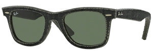 Ray Ban RB2140 Wayfarer Jeans Black with Crystal Green Lenses