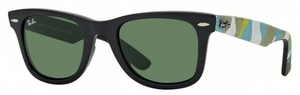 Ray Ban RB2140 Wayfarer Matte Black with Green Lenses