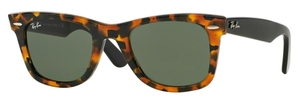 Ray Ban RB2140 Wayfarer Spotted Black Havana w/ Green Lenses