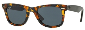 Ray Ban RB2140 Wayfarer Spotted Blue Havana w/ Grey Lenses