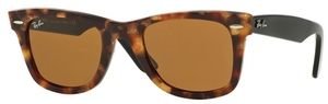 Ray Ban RB2140 Wayfarer Spotted Brown Havana w/ Brown Lenses
