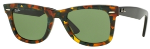 Ray Ban RB2140 Wayfarer Spotted Green Havana w/ Green Lenses