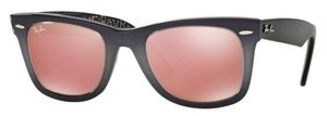 Ray Ban RB2140 Wayfarer Top Light Grey Gradient on Grey with Crystal Mirror Copper Lenses