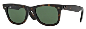 Ray Ban RB2140 Wayfarer Tortoise w/ Crystal Green Lenses  902