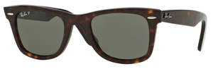 Ray Ban RB2140 Wayfarer Tortoise w/ Crystal Green POLARIZED Lenses