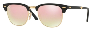 Ray Ban RB2176 CLUBMASTER FOLDING Matte Black with Copper Flash Gradient Lenses