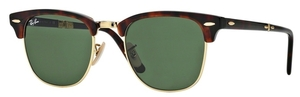 Ray Ban RB2176 CLUBMASTER FOLDING Red Havana with Crystal Green Lenses