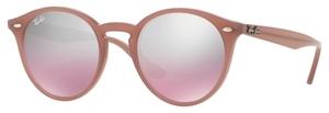 Ray Ban RB2180 Opal Antique Pink with Pink Mirror Silver Gradient Lenses