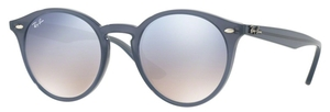 Ray Ban RB2180 Opal Dark Azure with Clear Gradient Blue Silver Mirror Lenses