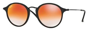 Ray Ban RB2447 Shiny Black w/ Mirror Gradient Red Lenses