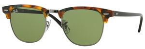 Ray Ban RB3016 Clubmaster Spotted Green Havana w/ Green Lenses