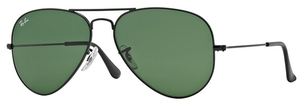 Ray Ban RB3025 Aviator Large Metal Black w/ Grey Green Lenses