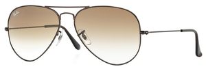 Ray Ban RB3025 Aviator Large Metal Brown w/ Crystal Brown Gradient Lenses