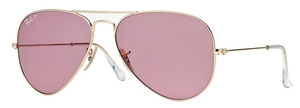 Ray Ban RB3025 Aviator Large Metal Gold w/ Cristal POLAR Pink Lenses