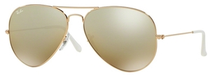 Ray Ban RB3025 Aviator Large Metal Gold w/ Cry.Brown Mirror Silver Grad. Lenses