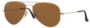 Ray Ban RB3025 Aviator Large Metal Gold w/ Crystal Brown Lenses