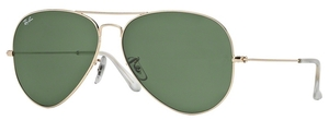 Ray Ban RB3025 Aviator Large Metal Gold w/ Grey Green Lenses 001