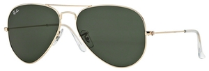 Ray Ban RB3025 Aviator Large Metal Gold w/ Grey Green Lenses