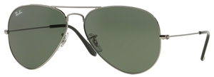 Ray Ban RB3025 Aviator Large Metal Gunmetal w/ Grey Green Lenses