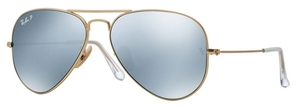 Ray Ban RB3025 Aviator Large Metal Matte Gold with Polarized Dark Grey Lenses