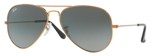 Ray Ban RB3025 Aviator Large Metal Shiny Bronze with Light Grey Gradient Lenses