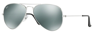 Ray Ban RB3025 Aviator Large Metal Silver w/ Crystal Grey Mirror Lenses W3275